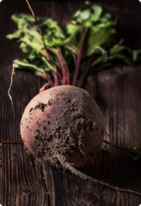 Beetroot on wood